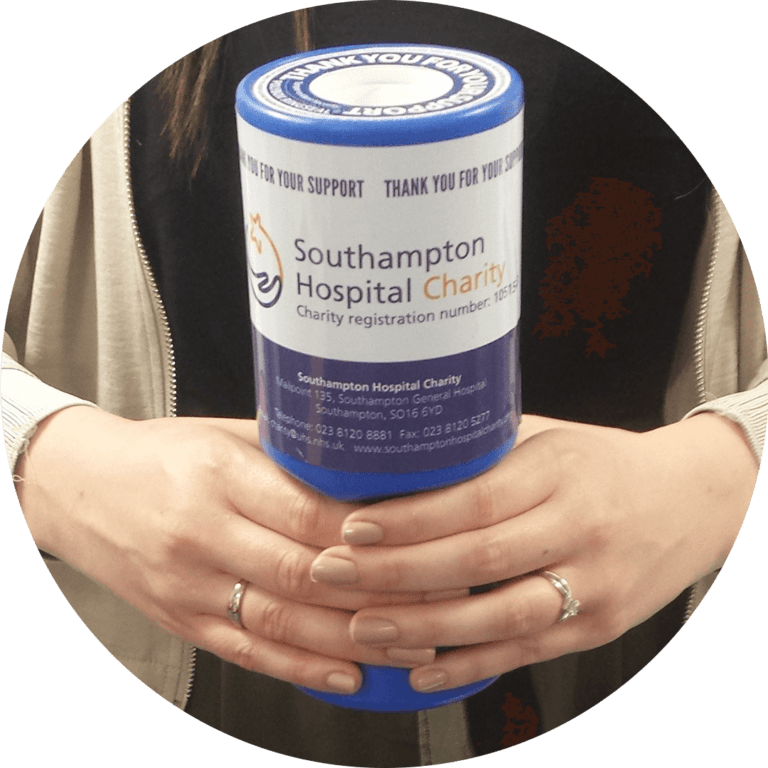Donation collection at Southamton Hospitals Charity