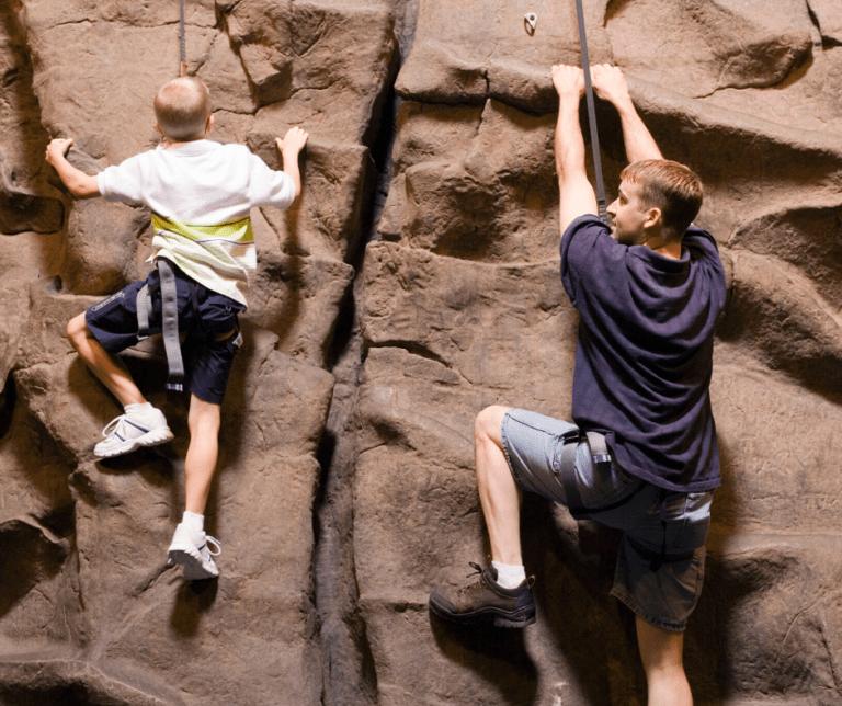 Indoor climbing fun