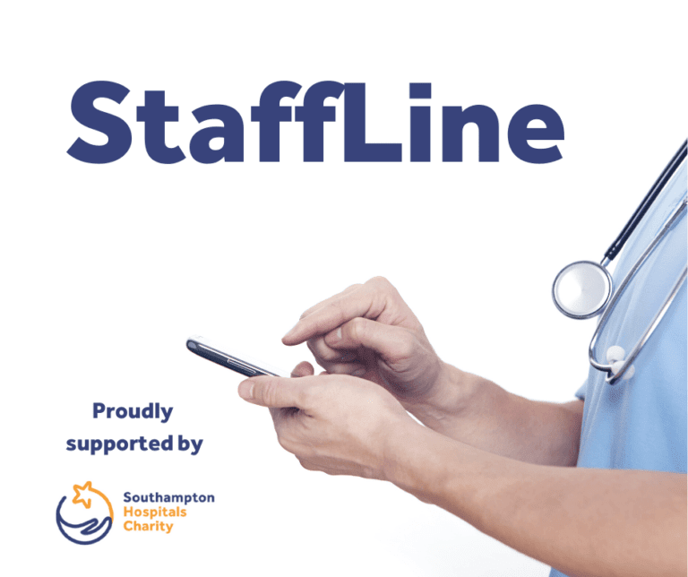 StaffLine, Proudly Supported by Southampton Hospitals Charity