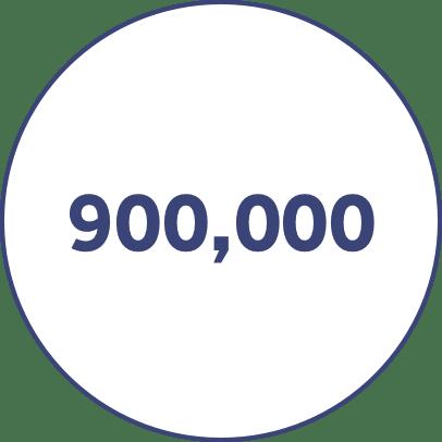 900,000
